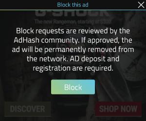 AdHash creative 300x250 quality control block