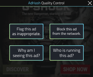AdHash creative 300x250 quality control