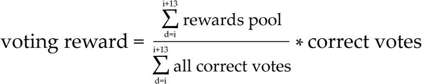 Equation votingreward